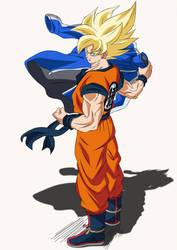 Epic Battle in Coming. Goku SSJ by Koku78