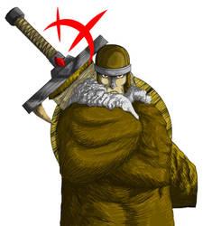 Viking with big sword by CJJennings