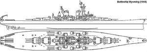 Super Battleship Wyoming by leovictor