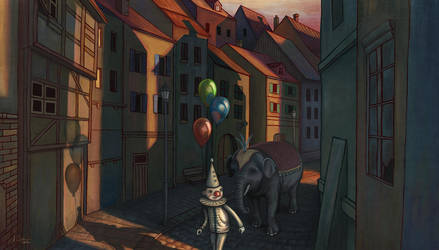 Circus comes to town by alexs-art