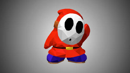 Shy Guy Low Poly Art by giftmones