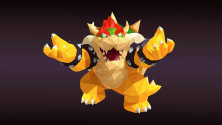 Bowser Low Poly Art by giftmones