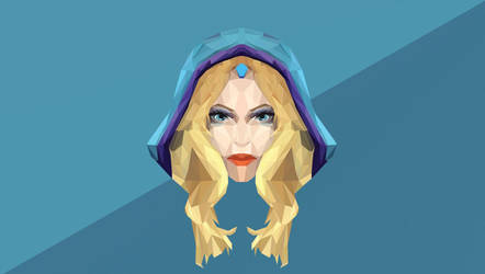 Crystal Maiden Dota 2 Low Poly Art by giftmones