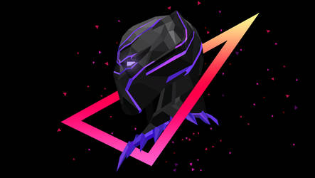 Low Poly Art - Black Panther by giftmones