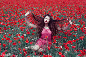 Into the Wild Red 7 by Michela-Riva