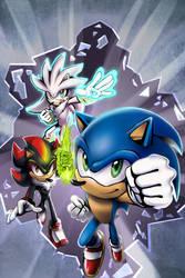 Sonic the Hedgehog (cover) by Madam-Monochrom