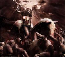 Battle on Apokolips by dominiquefam