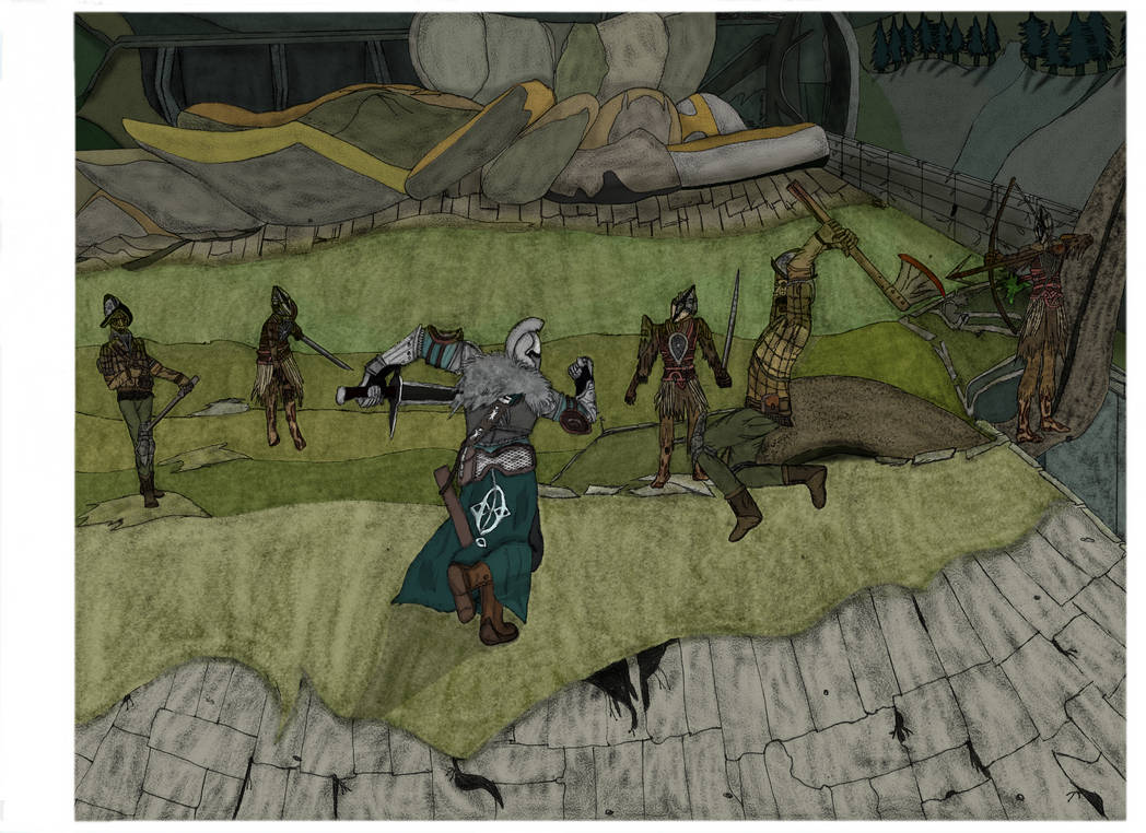Dark souls 2- hollow soldiers's fight by pedrortis