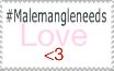 Male Mangle needs more love Stamp by Aunty-chick