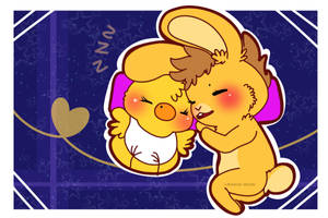 Night time [ [ [FNAF OTP/ SpringBonnica ] by Aunty-chick