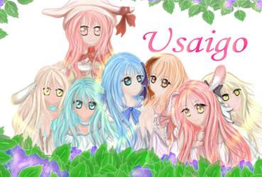Commish: Usaigo Family by jan-scolors