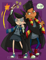 Gerald And Phoebe - Hogwarts Costumes by kirurupower