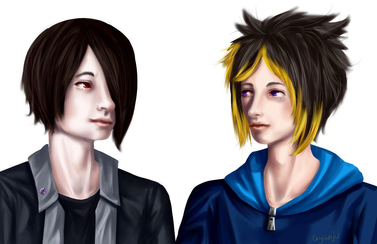 Jake and Zedof by MintyDinosaur