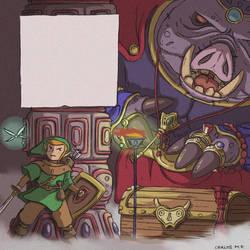 Link vs Ganondorf - Fan art - the legend of Zelda by Carlos-MP