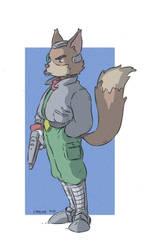 Fox McCloud Fan art Star Fox Anime Style by Carlos-MP