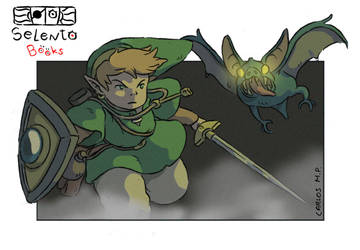 Link From The Legend Of Zelda 2 fanart by Carlos-MP