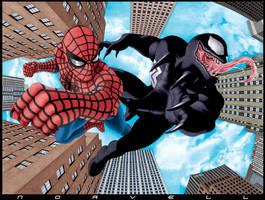 Spider-Man vs Venom COLOR by DaleNorvell