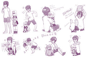Childhood Angels of Death Doodles by octopusxtimexkeeper