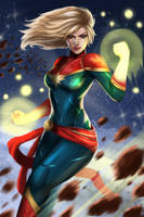 Captain Marvel by jaylospekaza