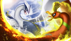 Lugia vs Ho-oh by jaylospekaza