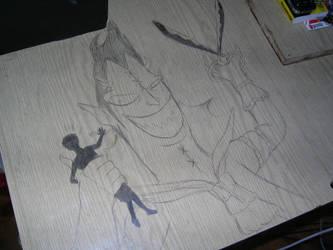 Deskwork no.1 - Moriah-sama by Szczery