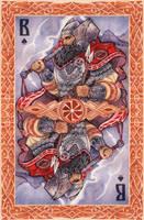 - Slavic cards - Perun (color) - by Losenko