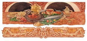 - Russian feast - by Losenko