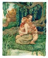 - Ratmir and shepherdess - by Losenko