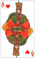 - Queen of Hearts (color) - by Losenko