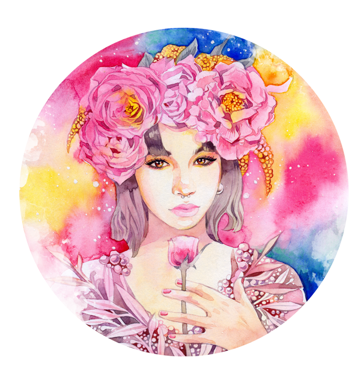 - Commission - Peony crown - by Losenko