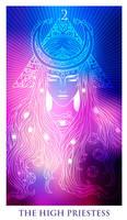 Tarot -  The hign priestess by Losenko