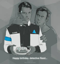 Happy birthday, Detective Reed by Losenko