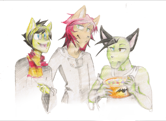 Thanksgiving? Pshhh, I'll have some more Halloween by Napkinmouse