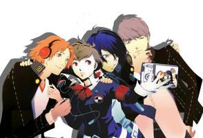 Persona 3 + 4 by aifseiei