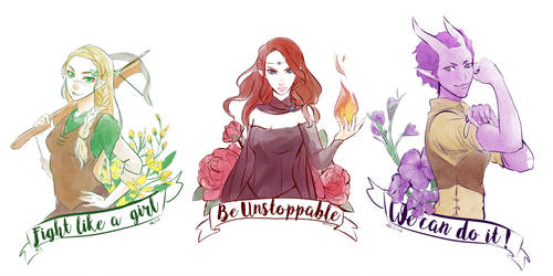 The Broadswords International Women's Day 2018 by AkiDead