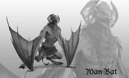DC Antiquity - Man-Bat by dustsplat