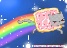 Nyan nyan cat by Remittent