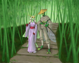 Flo 'n Roja - Bamboo Steps by merrypaws