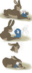 ROTG - Dark Pooka and Little Jack 2 by merrypaws