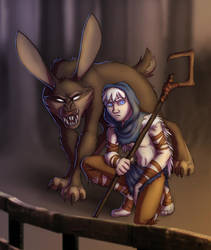 ROTG - Dark Pooka and Not-so Little Jack by merrypaws