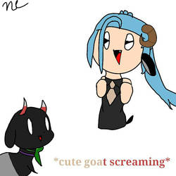 *Cute Goat Scree* by KrystiCrystal