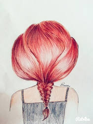 Red hair braid by EvanescentAbstract