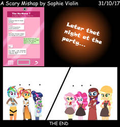 [EQG Halloween] A Scary Mishap - Comic Version by SophieVioin