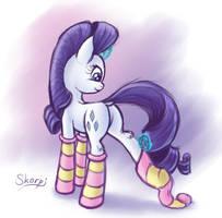 Rarity socks (sketch) by SkorpionLetun