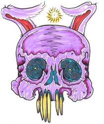 bunny skull by TJKelly