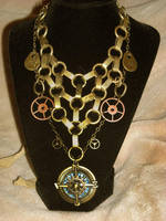 steampunk golden compass net by TimelessCharm