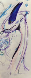 Lugia Sketch by Gillighan