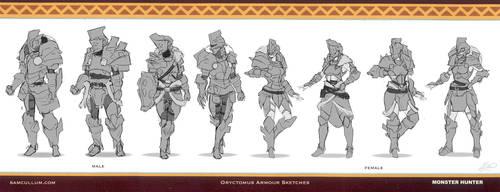 Oryctomus Armour Sketches by SamSantala