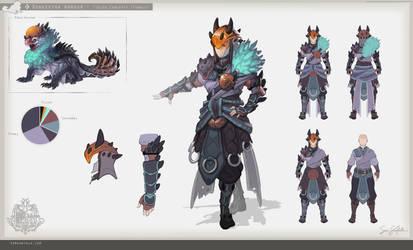 MH:World - Donkestra Armour (Female) by SamSantala