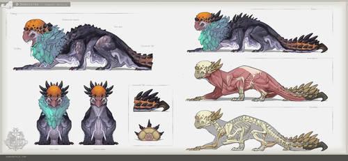 MH:World - Donkestra Creature Detail by SamSantala